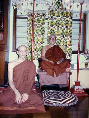 U Buddharakkhita (Steve) with Sayadaw U Pandita